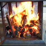 Burning Log Burner