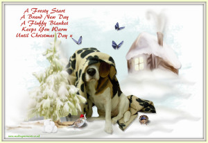 Beautiful Beagle Dog With Words,