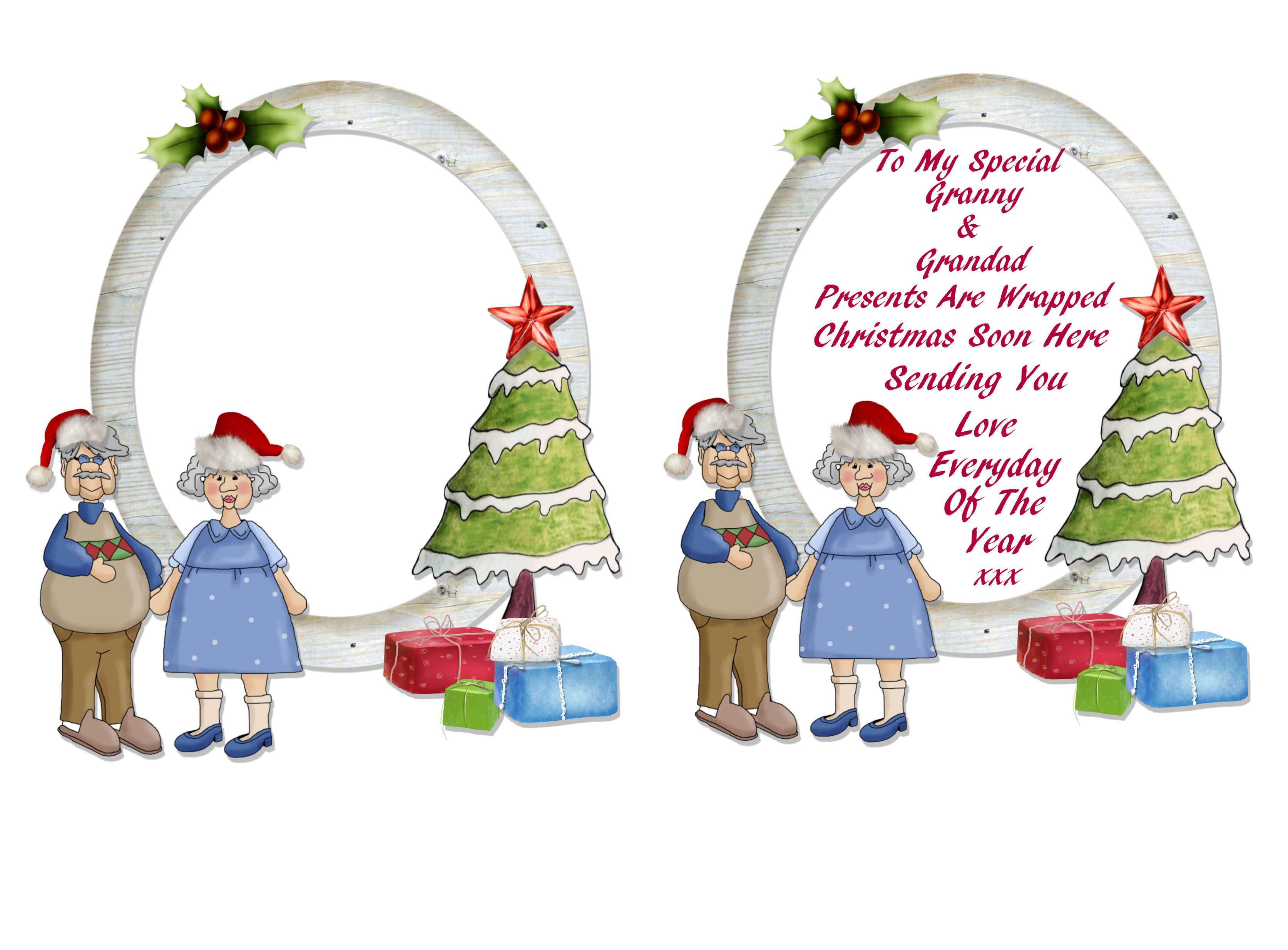 christmas card print out verses grandparents - Christmas Card Print Out
