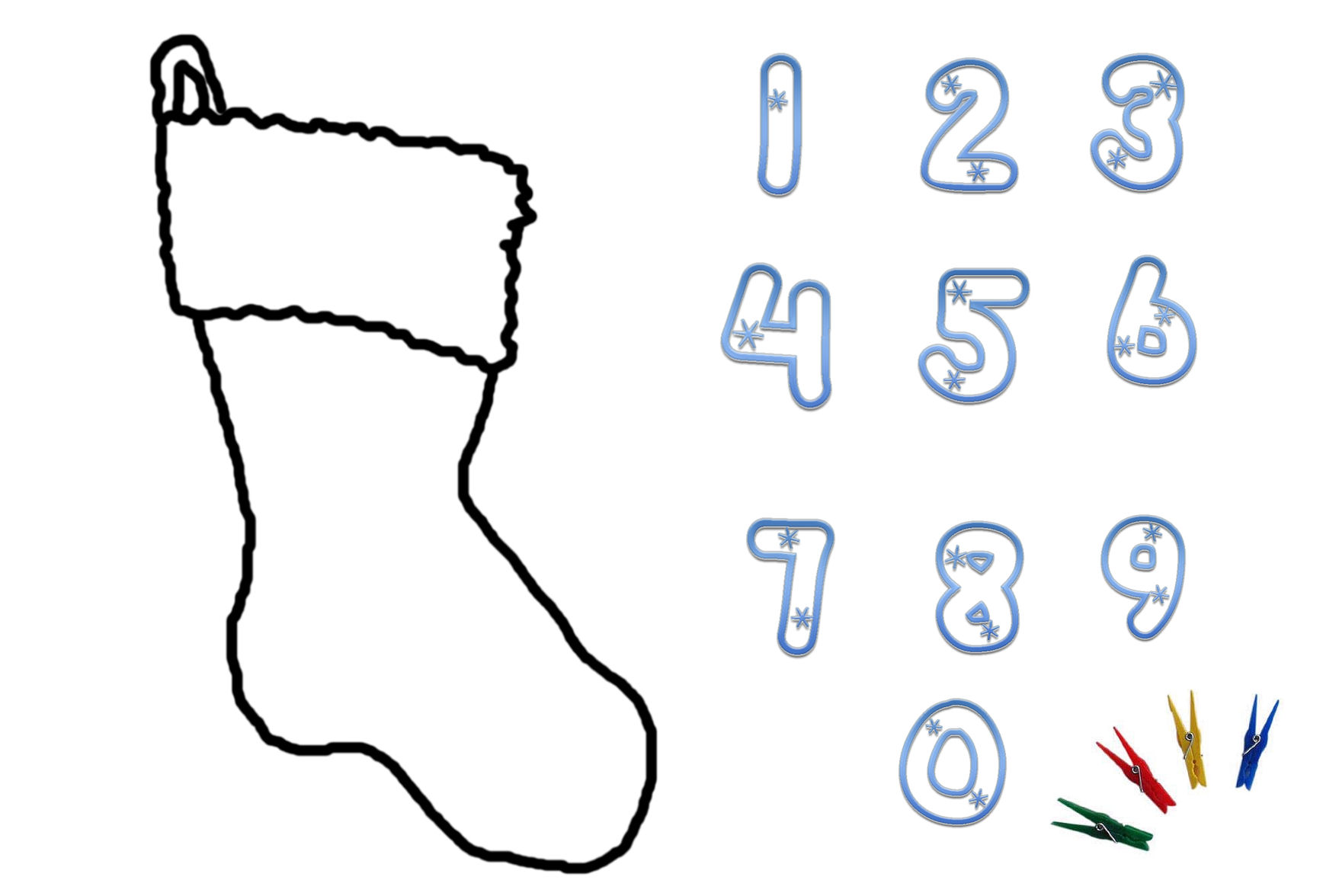 To make this beautiful advent calender simply print out the Christmas ...