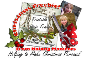 christmas freebie photo frame preview