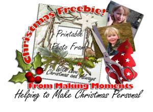 christmas freebie photo frame preview