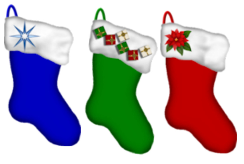 colourful christmas stockings