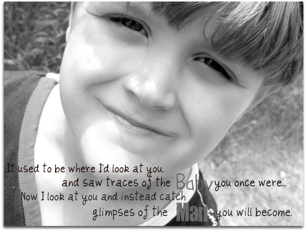 boy growing up quote