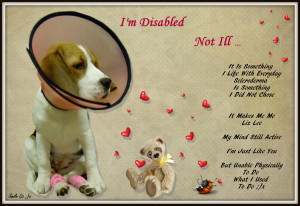 I'm Disabled Not Ill Some Thing I Live With Every Day