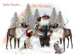 Santa Checks The Reindeers
