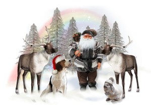 Santa Checks His Reindeers