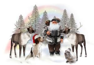 Santa Checks His Reindeers