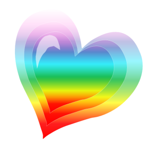 heart rainbow friendship instagram image cool funky fun